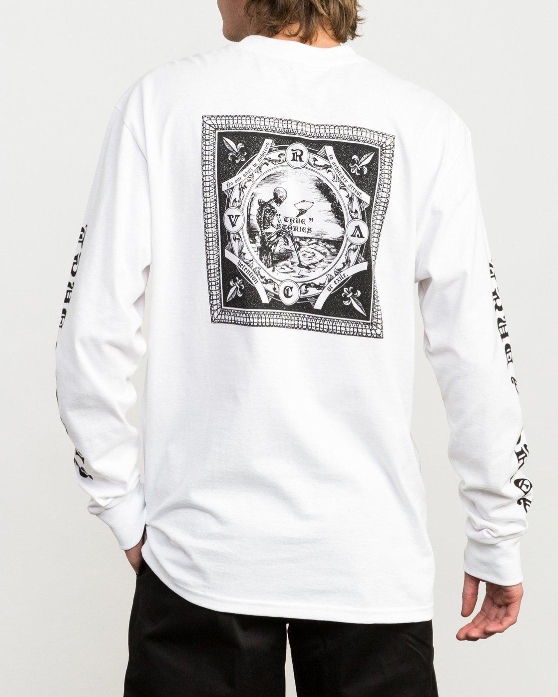 4 JeanJean Detention Long Sleeve T-Shirt White M492QRDE RVCA