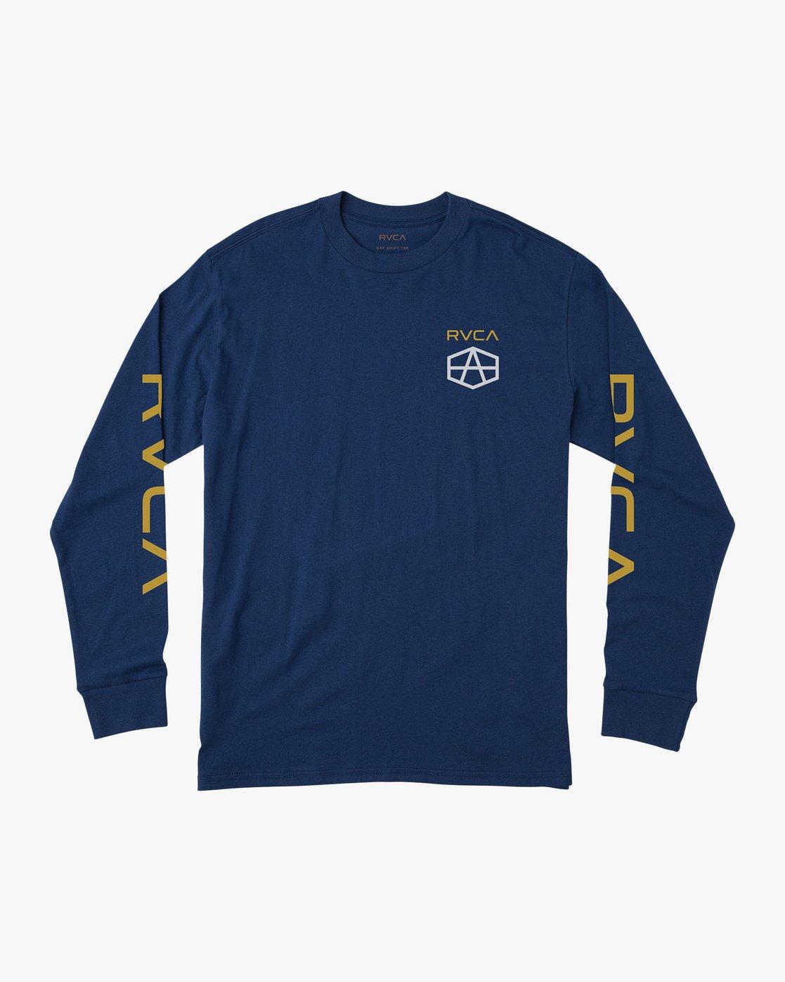 1 Reynolds Hex Long Sleeve T-Shirt Blue M492QRRE RVCA
