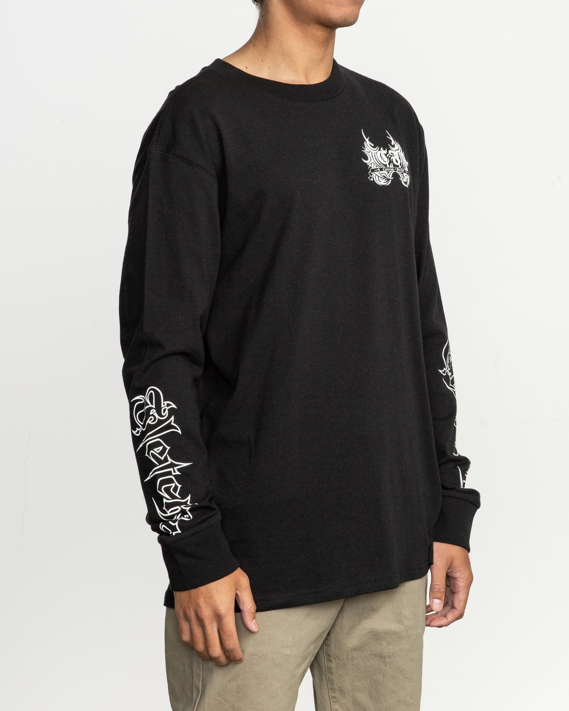 4 Fletcher Tribe Long Sleeve T-Shirt Black M492TRFT RVCA