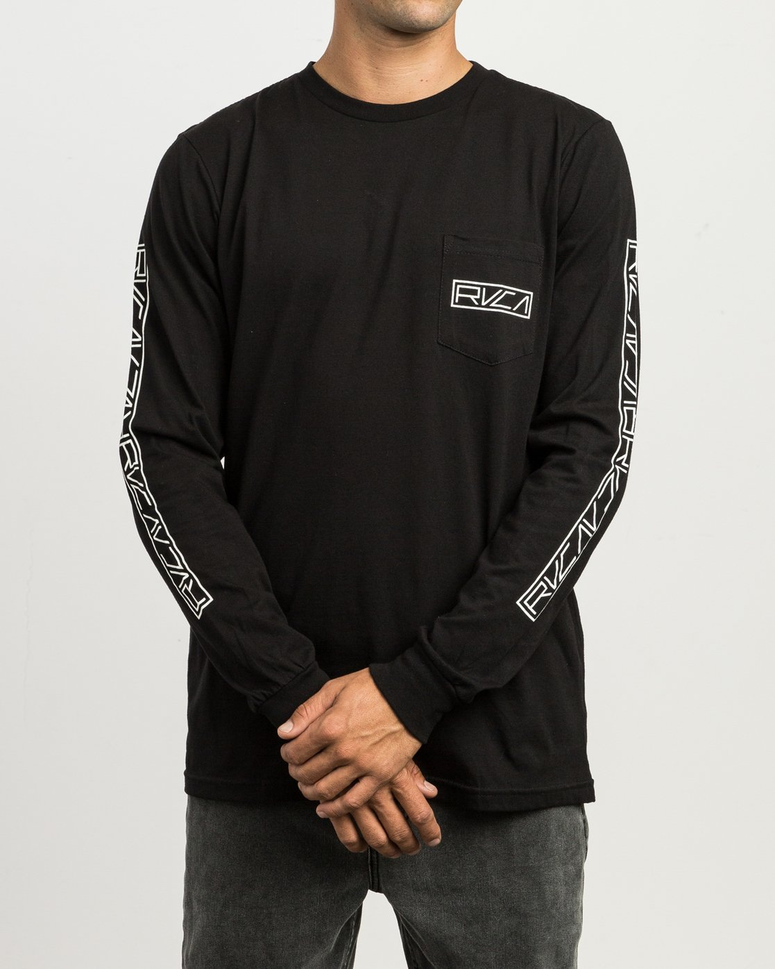 2 Reflector Long Sleeve T-Shirt Black M495SRRE RVCA