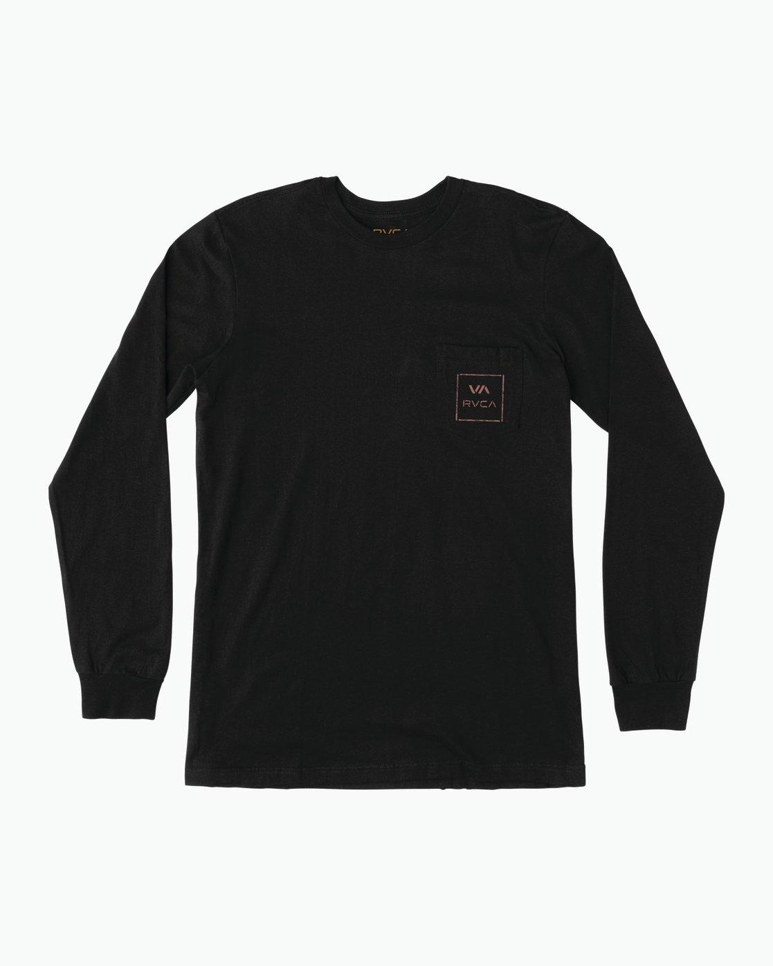 1 VA Spray Long Sleeve Pocket T-Shirt Black M495SRVA RVCA 22333fd20ca