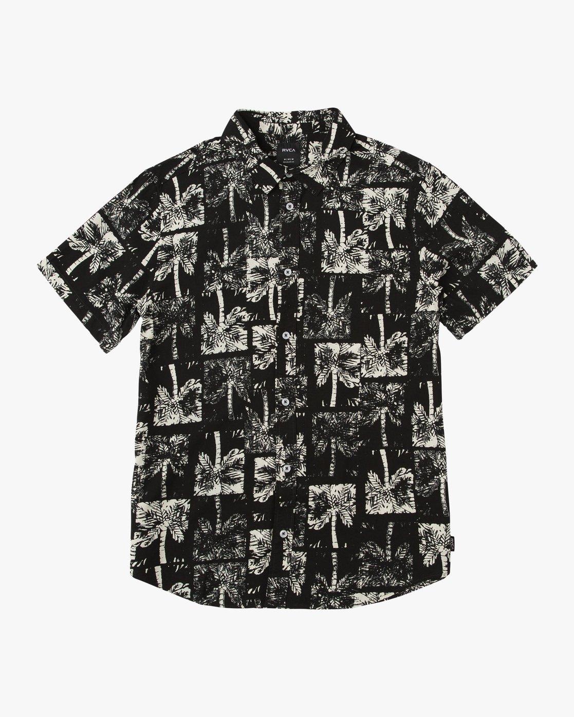 0 Oblow Palms Button-Up Shirt Black M501QROP RVCA