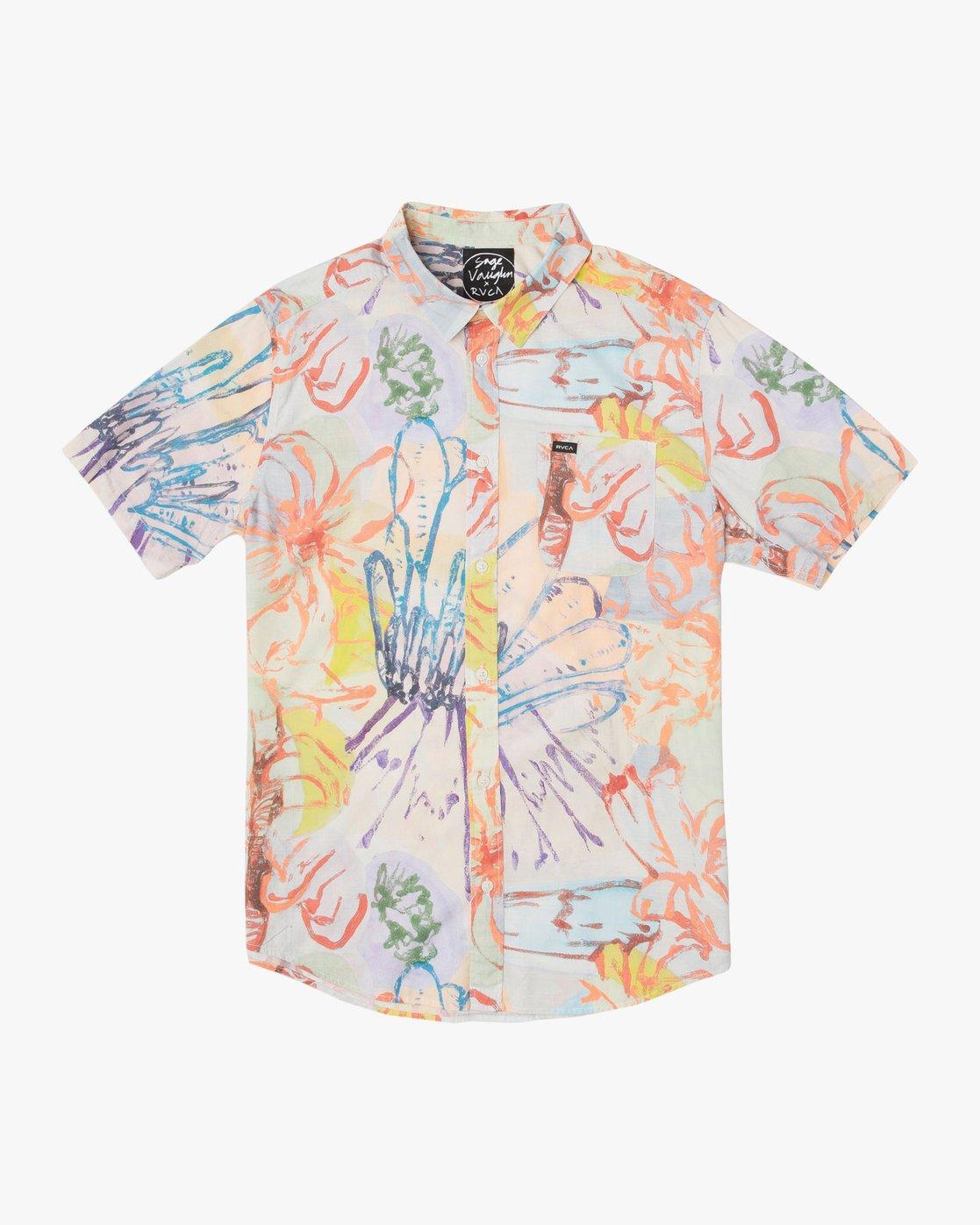 0 Sage Vaughn Floral Button-Up Shirt Multicolor M501TRVF RVCA