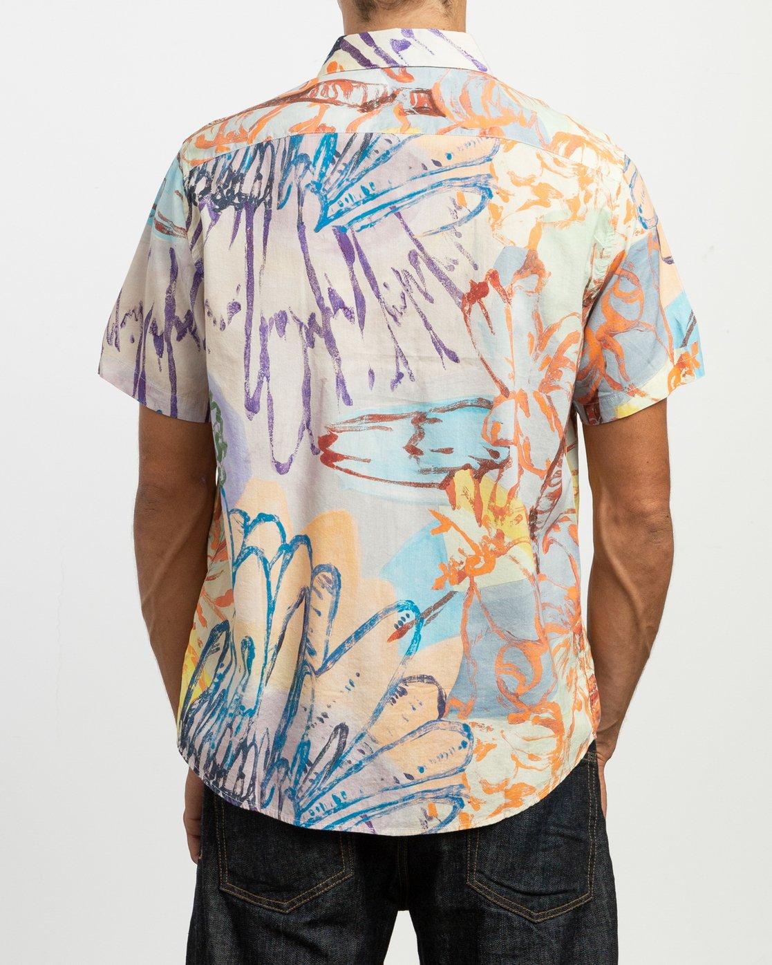 3 Sage Vaughn Floral Button-Up Shirt Multicolor M501TRVF RVCA
