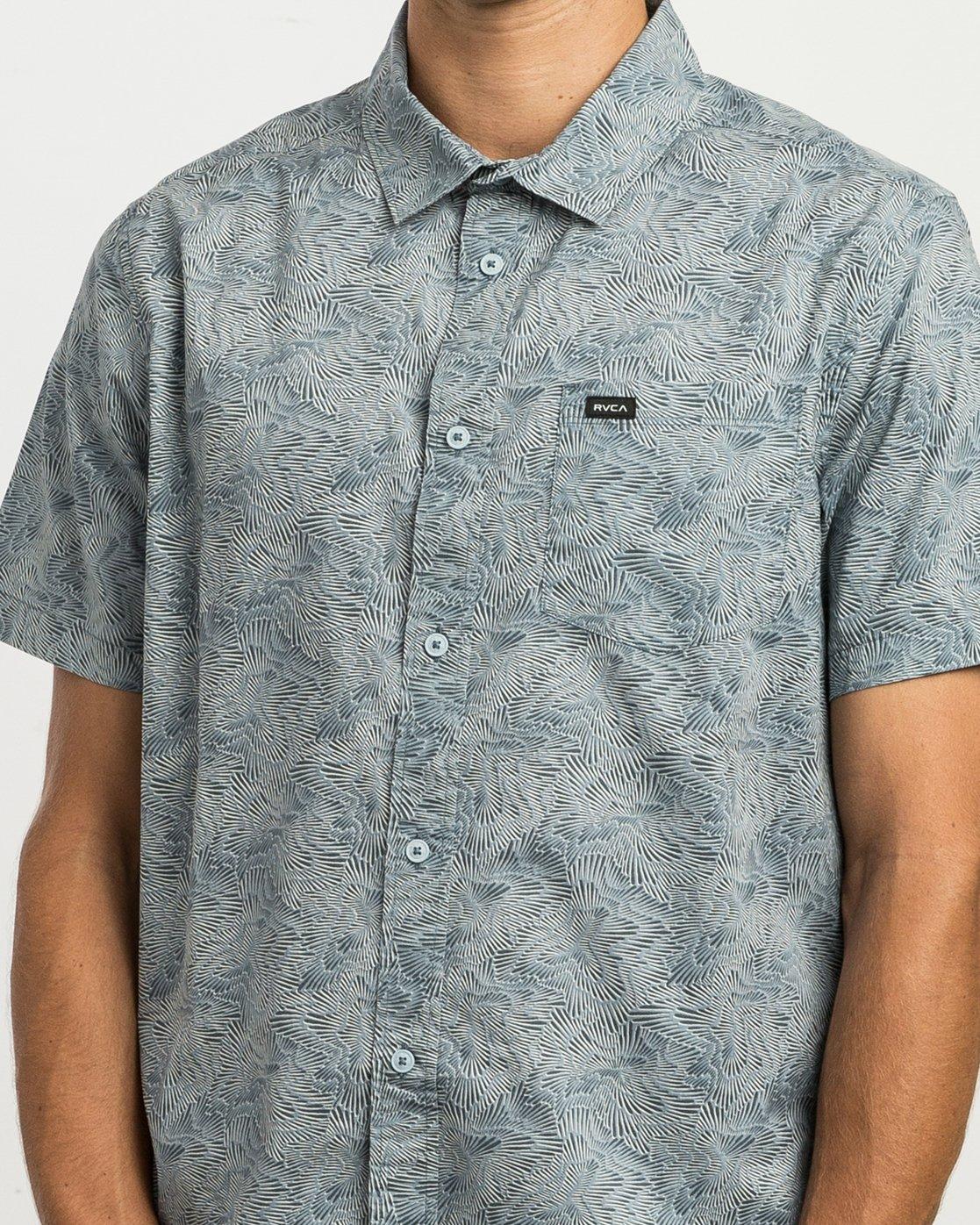 4 Shimmy Button-Up Shirt Blue M505SRSH RVCA