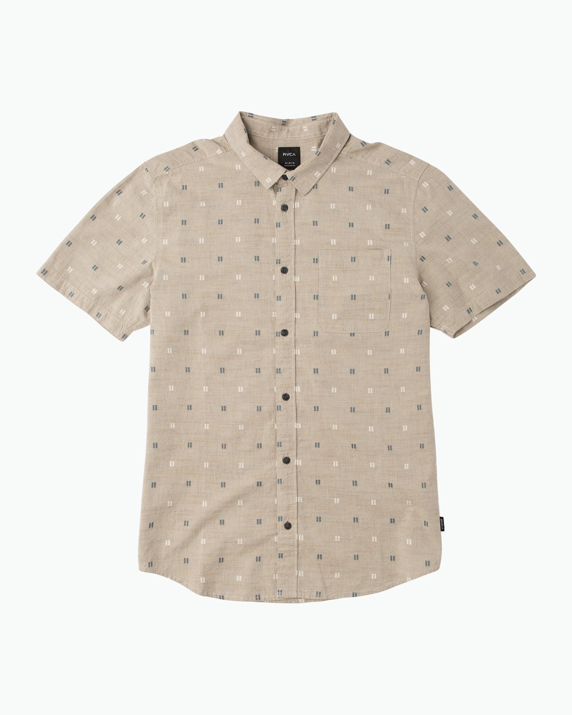 0 And Sons Printed Button-Up Shirt Beige M506QRAN RVCA