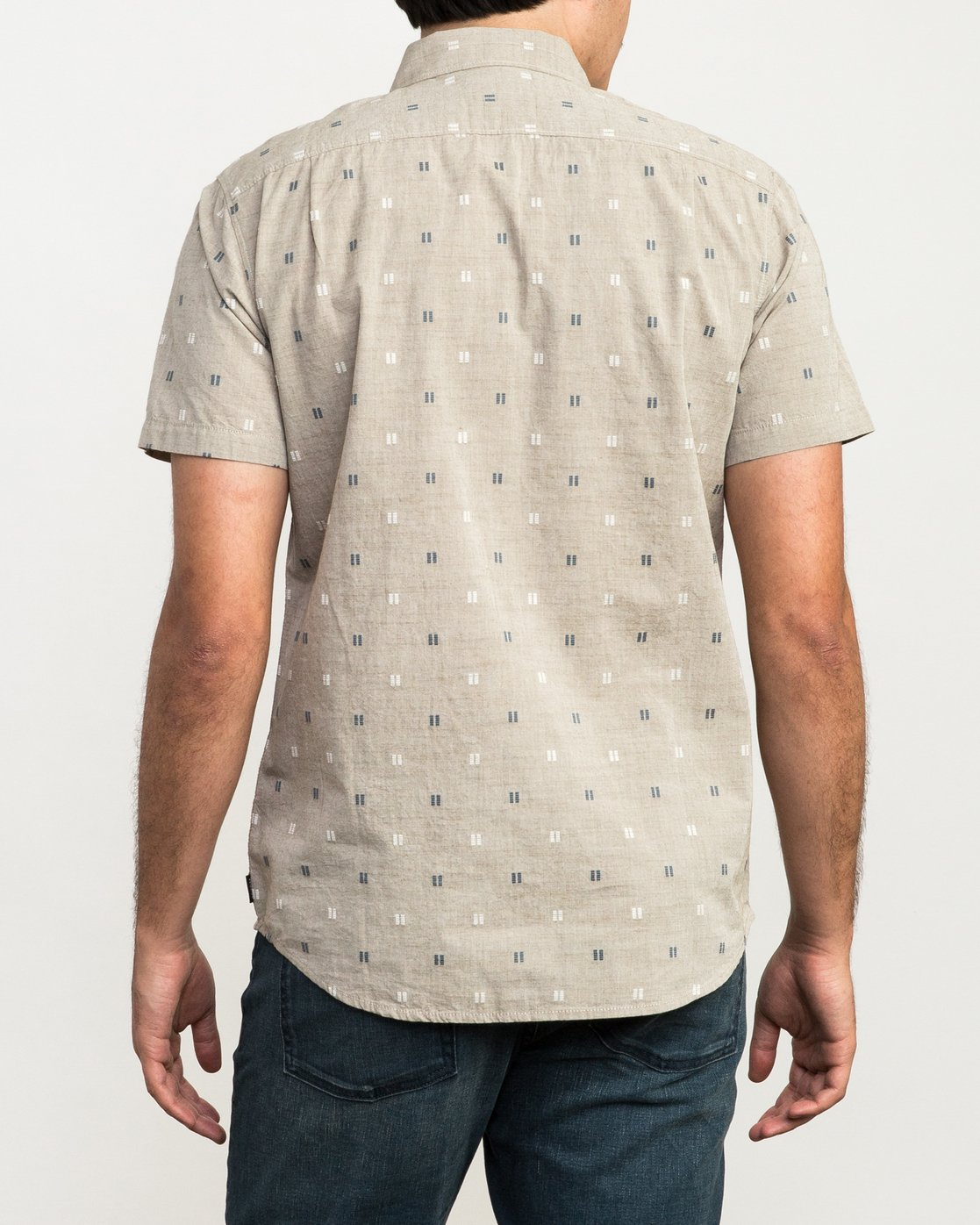 2 And Sons Printed Button-Up Shirt Beige M506QRAN RVCA