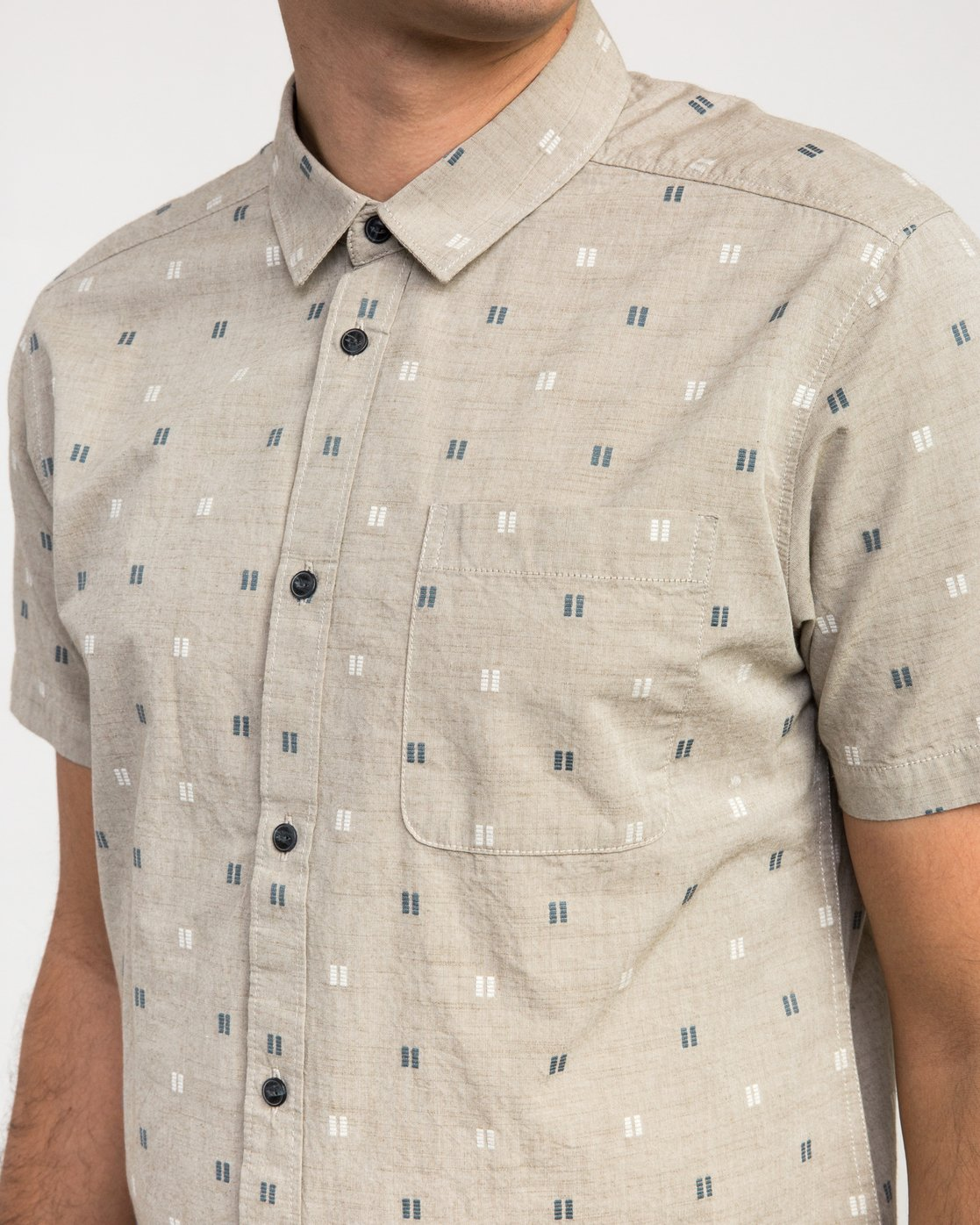 3 And Sons Printed Button-Up Shirt Beige M506QRAN RVCA