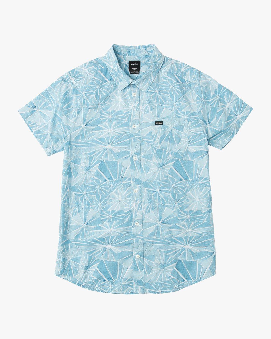 0 Blade Printed Button-Up Shirt Blue M508QRBL RVCA