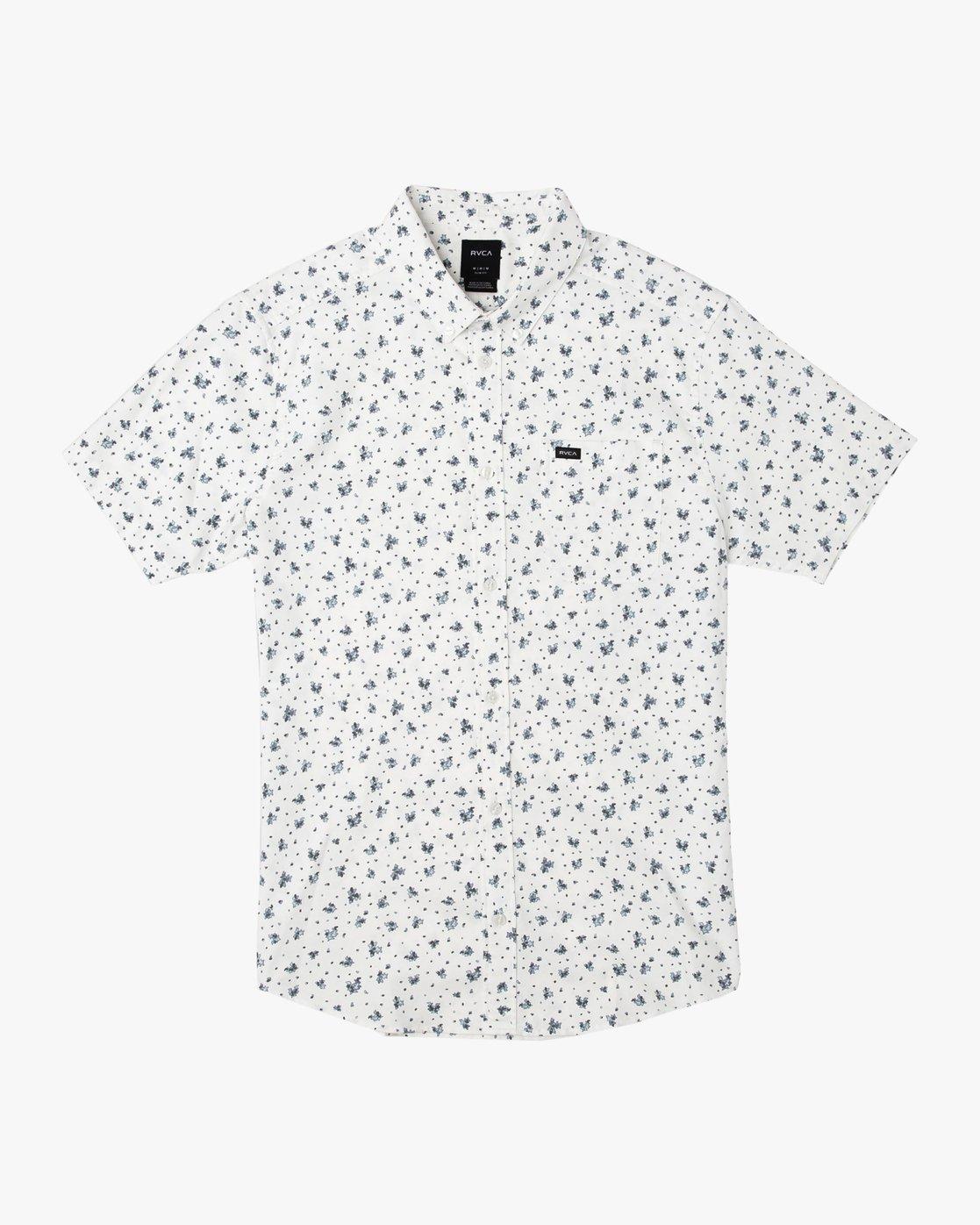 0 That'll Do Print Button-Up Shirt White M508TRTP RVCA