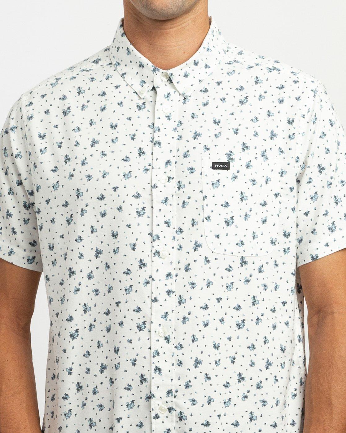 4 That'll Do Print Button-Up Shirt White M508TRTP RVCA