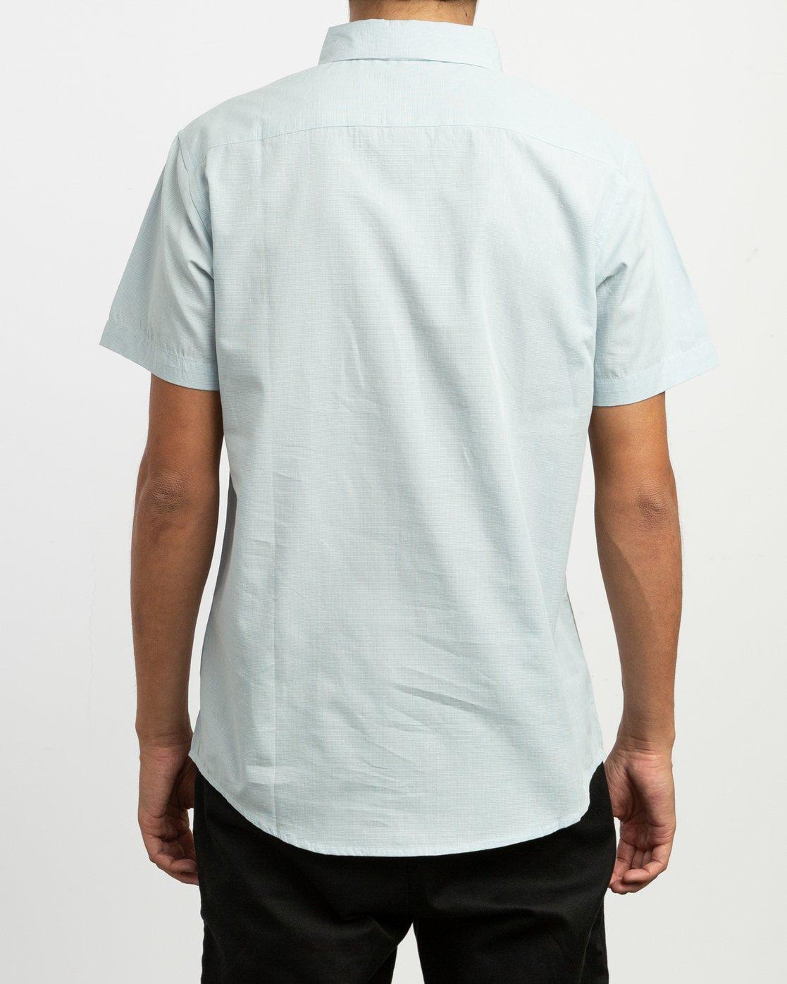 3 That'll Do Dobby Button-Up Shirt Blue M511TRDB RVCA