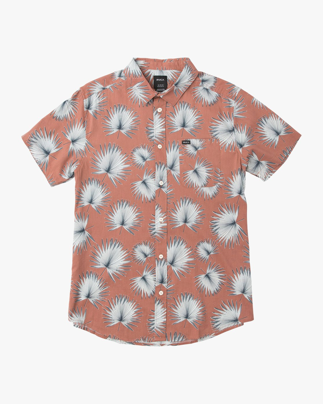 0 Palms Printed Button-Up Shirt Brown M512QRPA RVCA