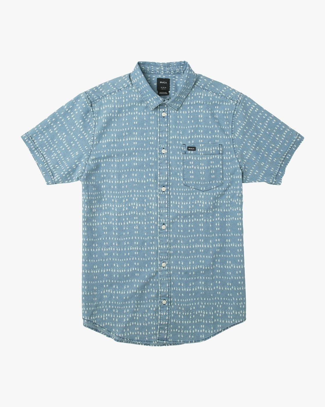 0 Nakama Dot Button-Up Shirt Blue M517TRND RVCA