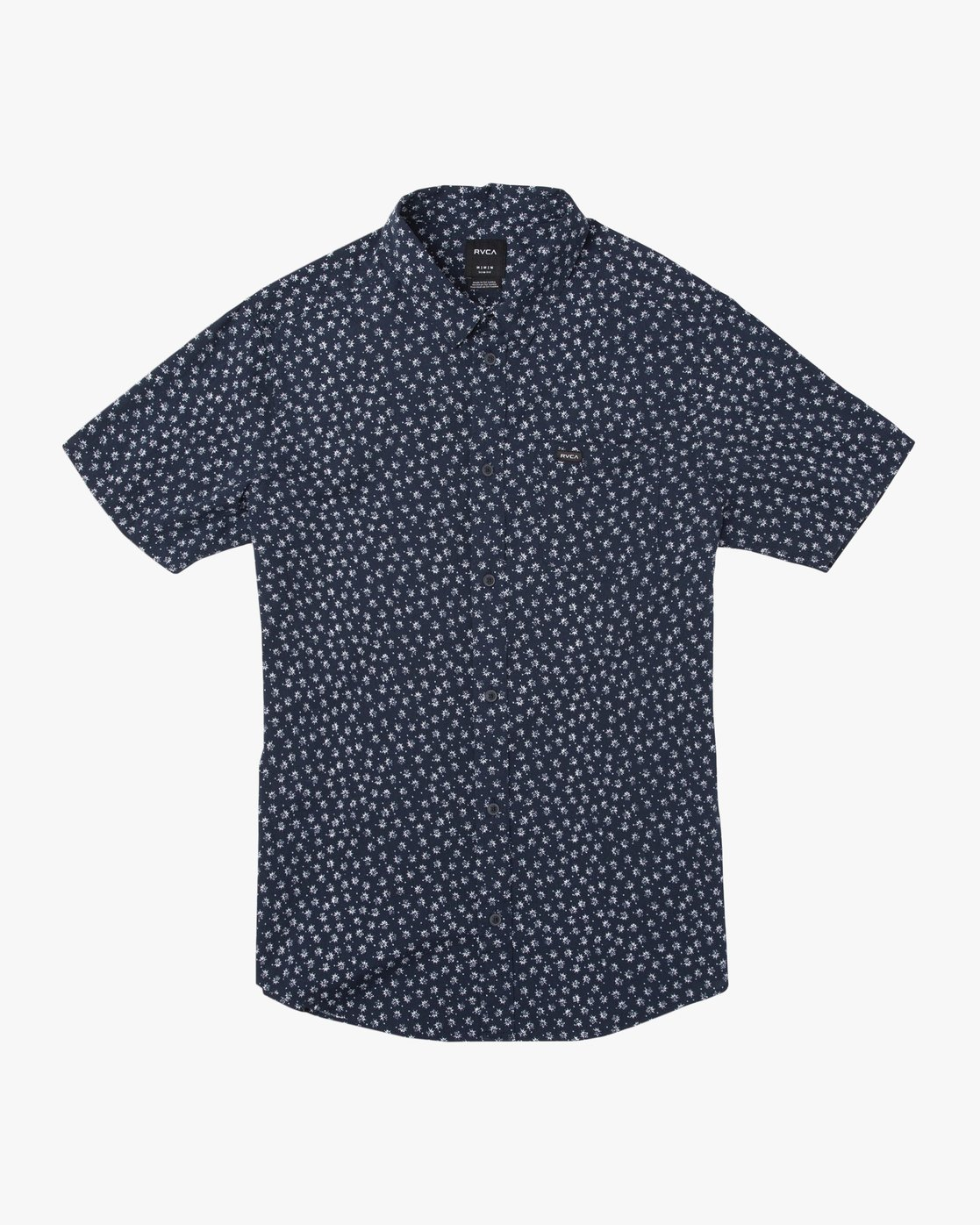 0 Ficus Floral Button-Up Shirt Blue M520TRBF RVCA