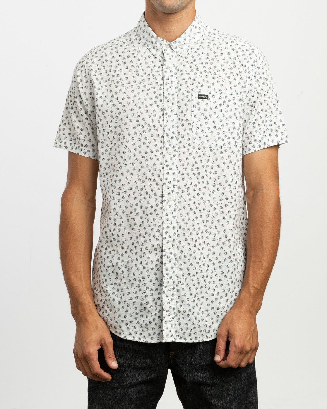 1 Ficus Floral Button-Up Shirt White M520TRBF RVCA