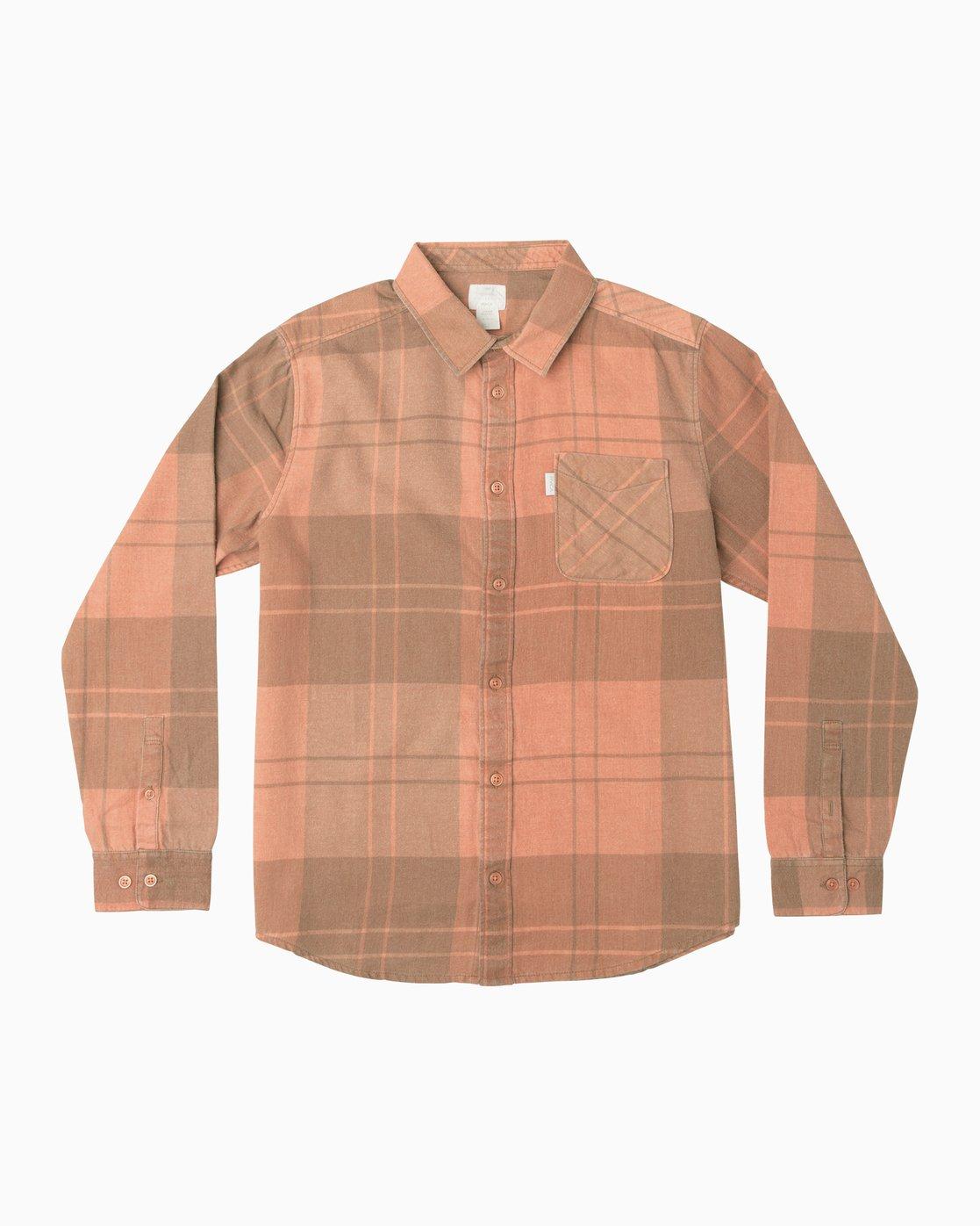 0 Good Stuff Neutral Flannel Orange M525QRGS RVCA