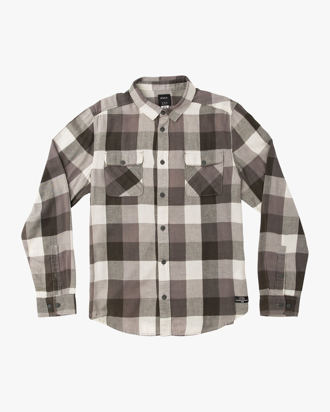 0 Campbell Brothers Buffalo Girl Plaid Shirt Black M552QRBU RVCA