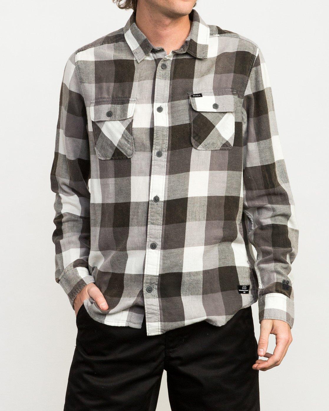 1 Campbell Brothers Buffalo Girl Plaid Shirt Black M552QRBU RVCA