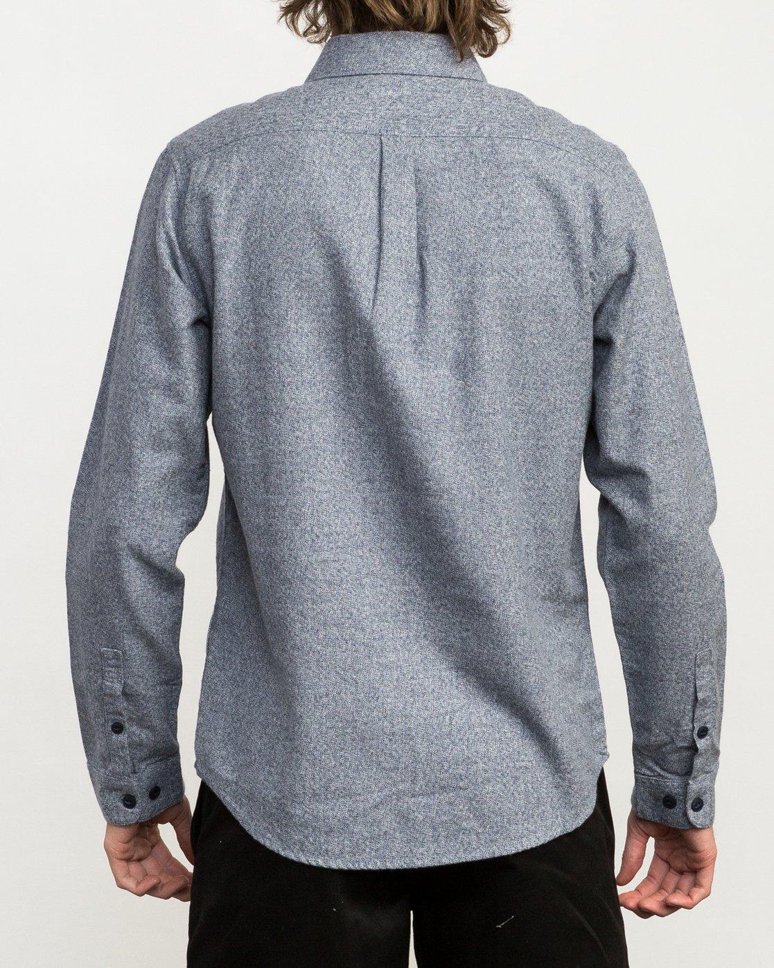 3 Twisted Long Sleeve Button-Up Shirt Blue M553QRTW RVCA