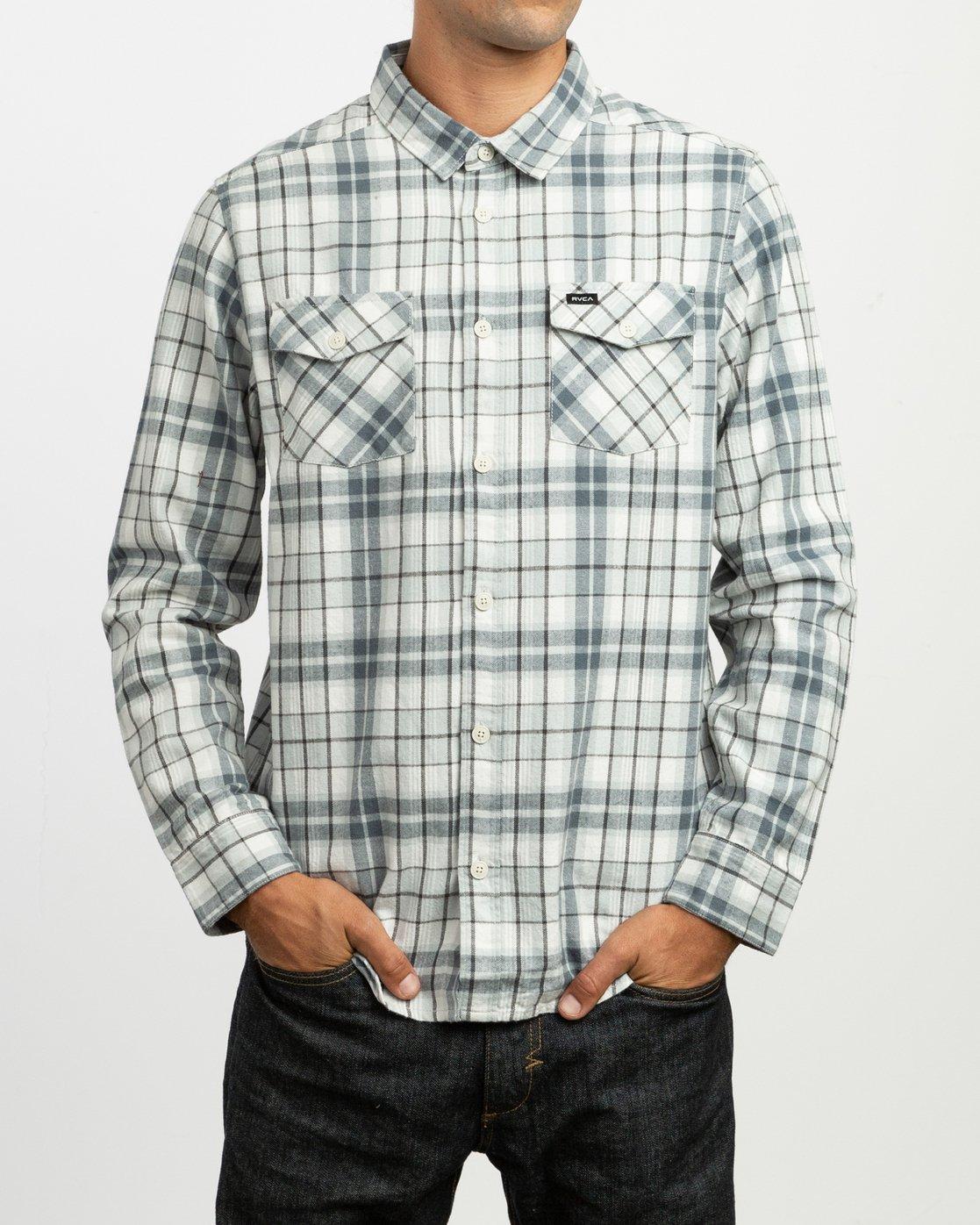1 Watt Plaid Long Sleeve Flannel Multicolor M553TRWF RVCA