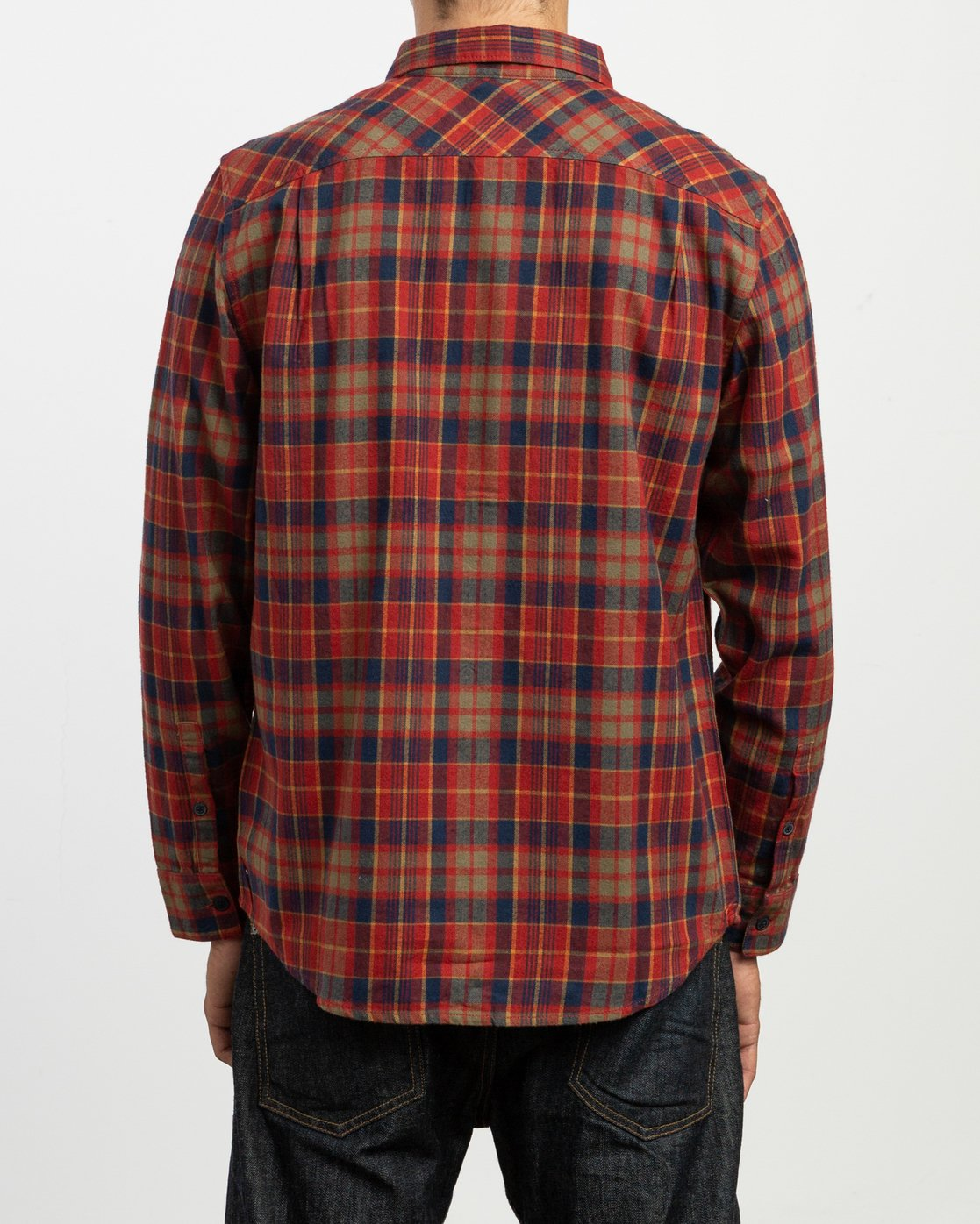 4 Watt Plaid Long Sleeve Flannel Red M553TRWF RVCA