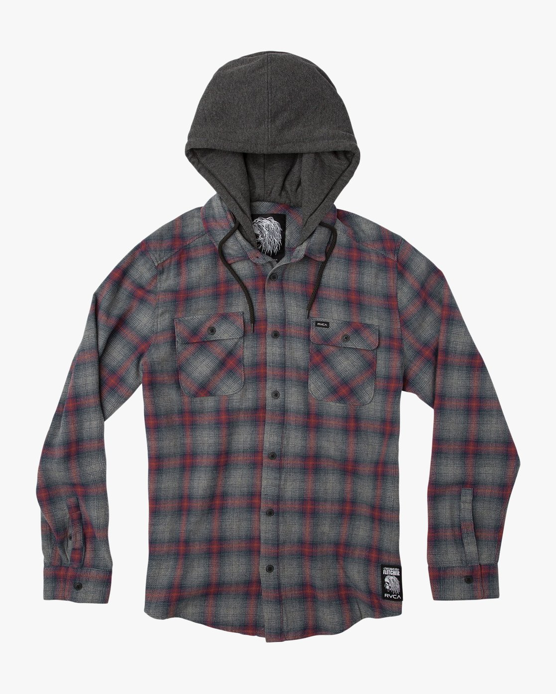 0 Christian Fletcher Good Hombre Flannel Grey M560QRGO RVCA