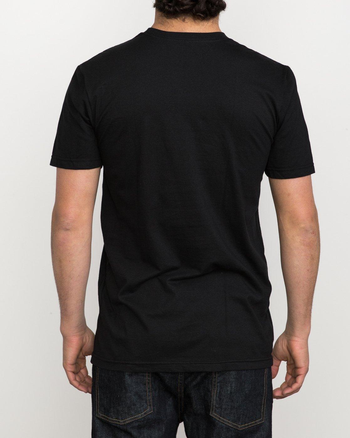 3 RVCA Sport T-Shirt Black M600K00R RVCA