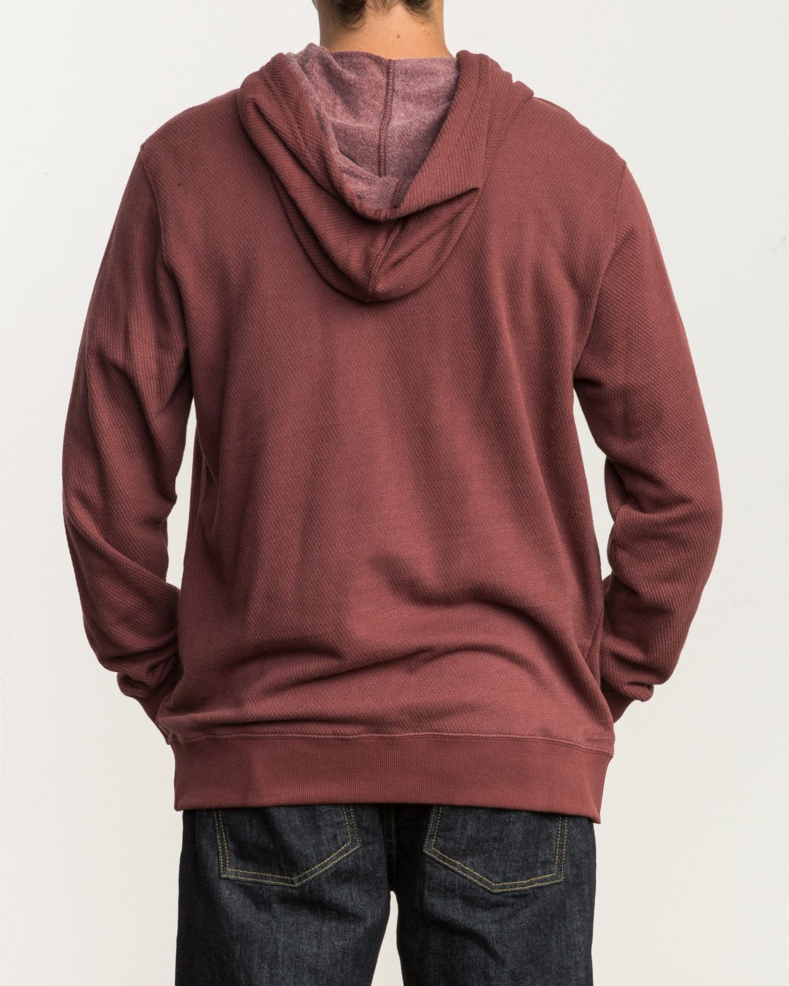 4 Lupo Fleece Hoodie Red M601QRLP RVCA