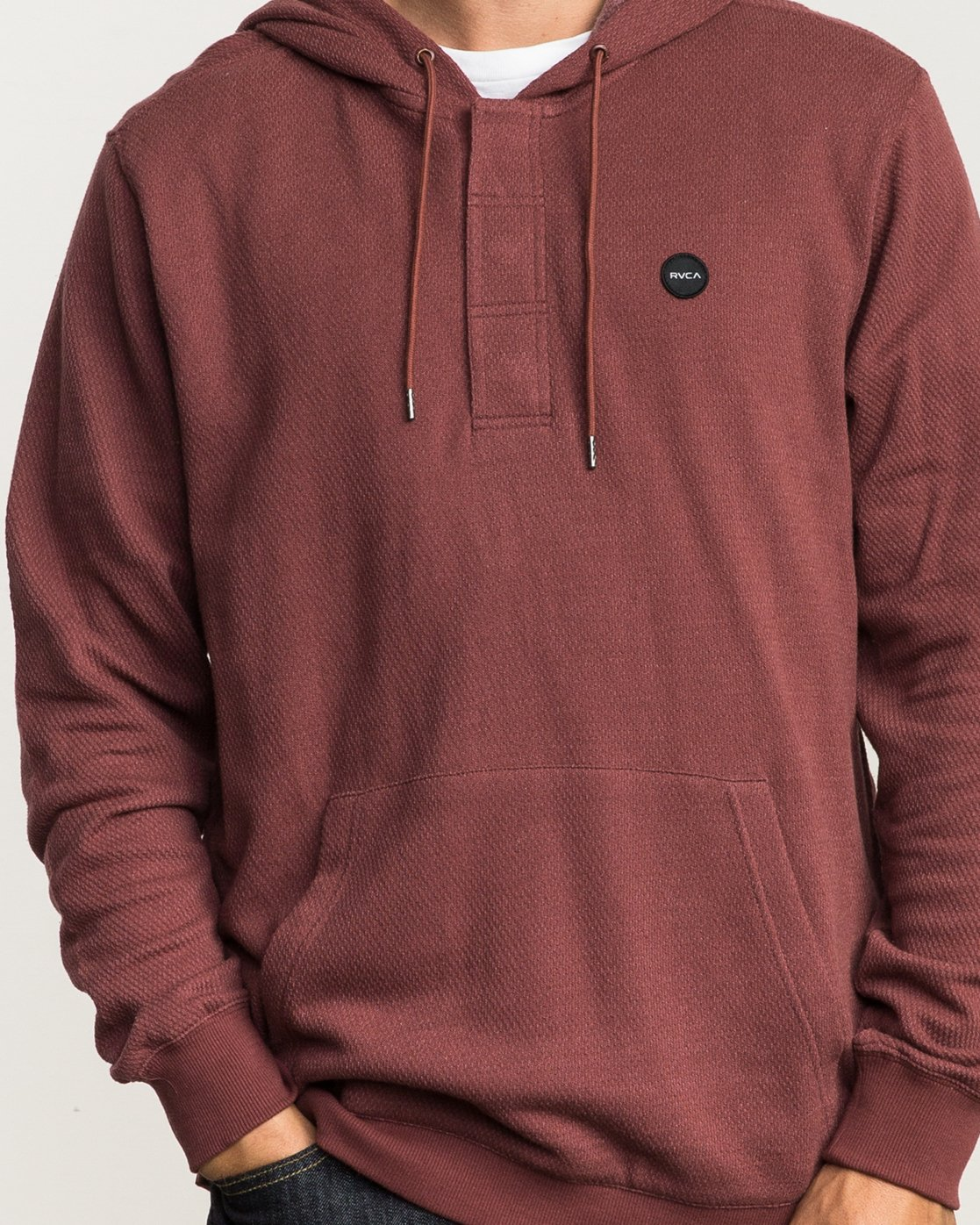 5 Lupo Fleece Hoodie Red M601QRLP RVCA