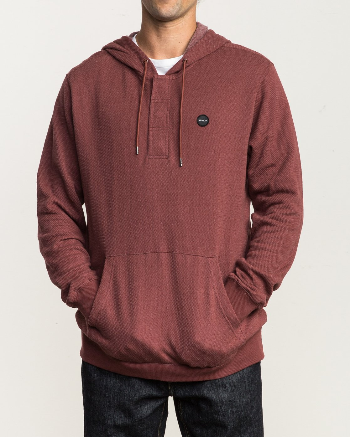 2 Lupo Fleece Hoodie Red M601QRLP RVCA