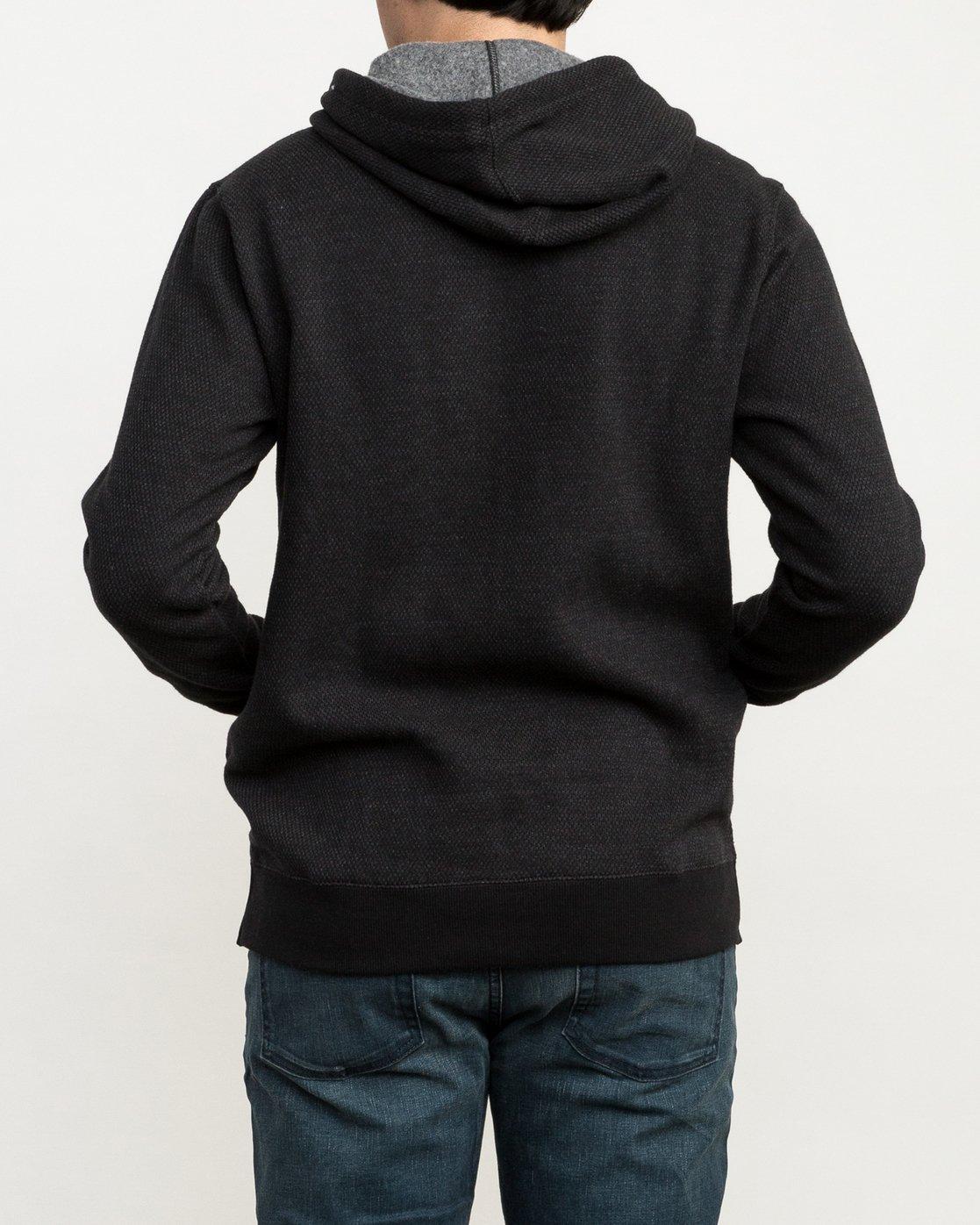 3 Lupo Fleece Hoodie Black M601QRLP RVCA