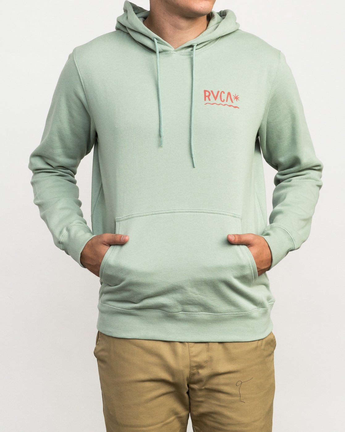 2 Squig Hoodie Green M602QRSP RVCA