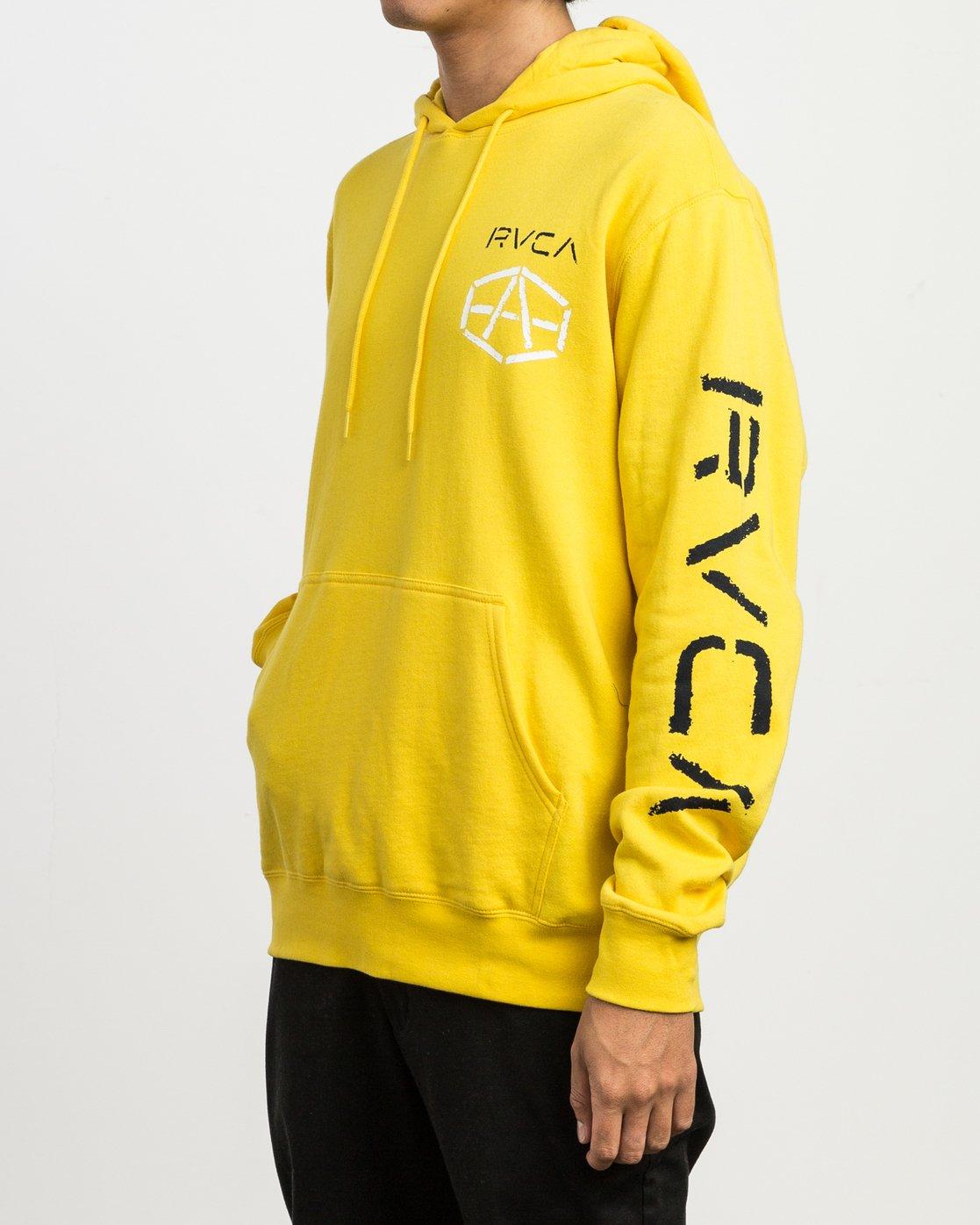 4 Andrew Reynolds Stencil Hoodie Yellow M602SRAS RVCA
