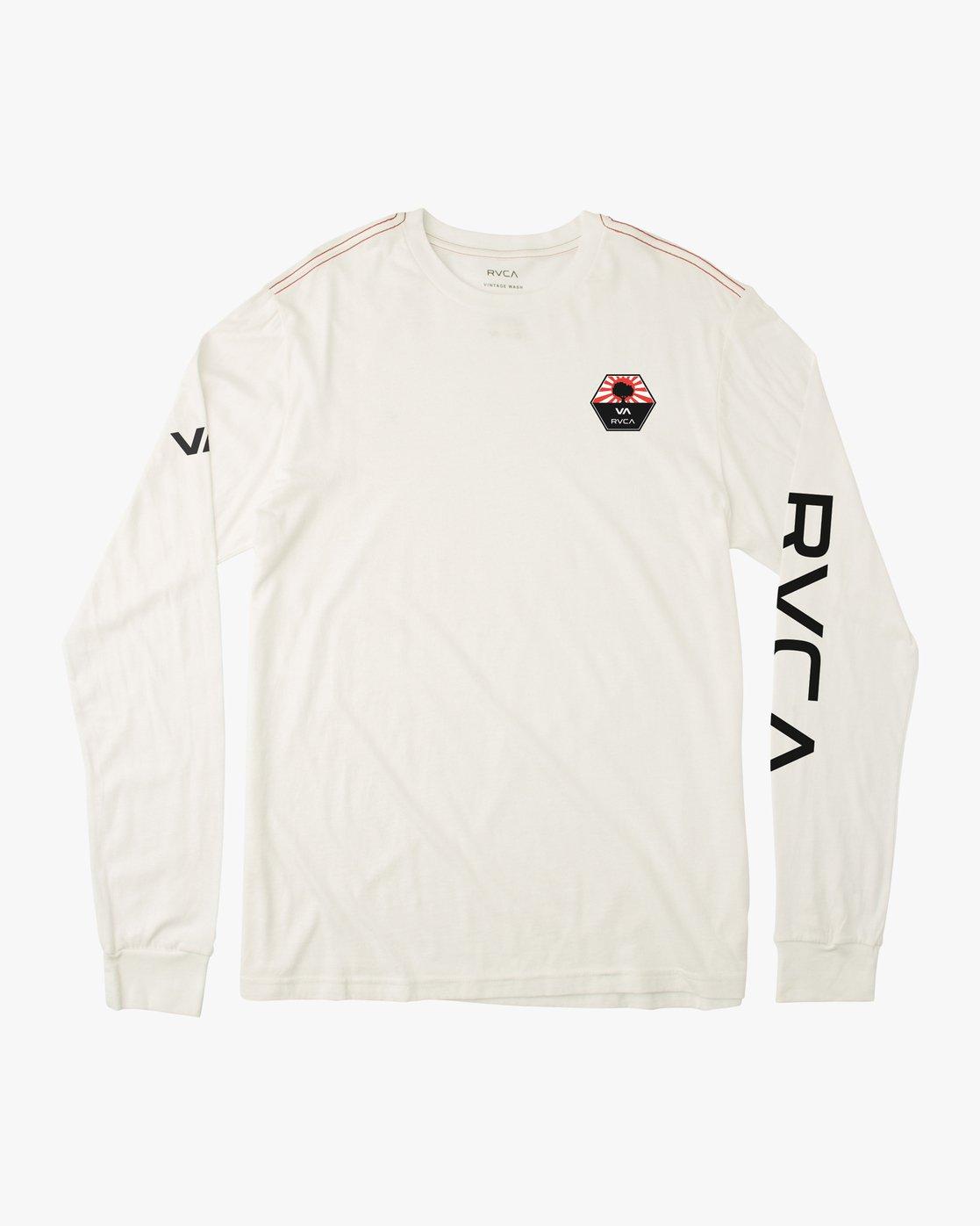 1 Bruce Irons Long Sleeve T-Shirt White M605M01B RVCA