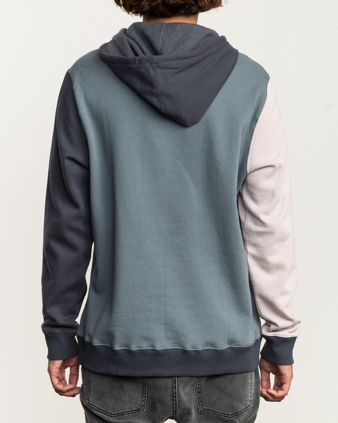 4 Ruddy Color Blocked Hoodie Blue M605QRRD RVCA
