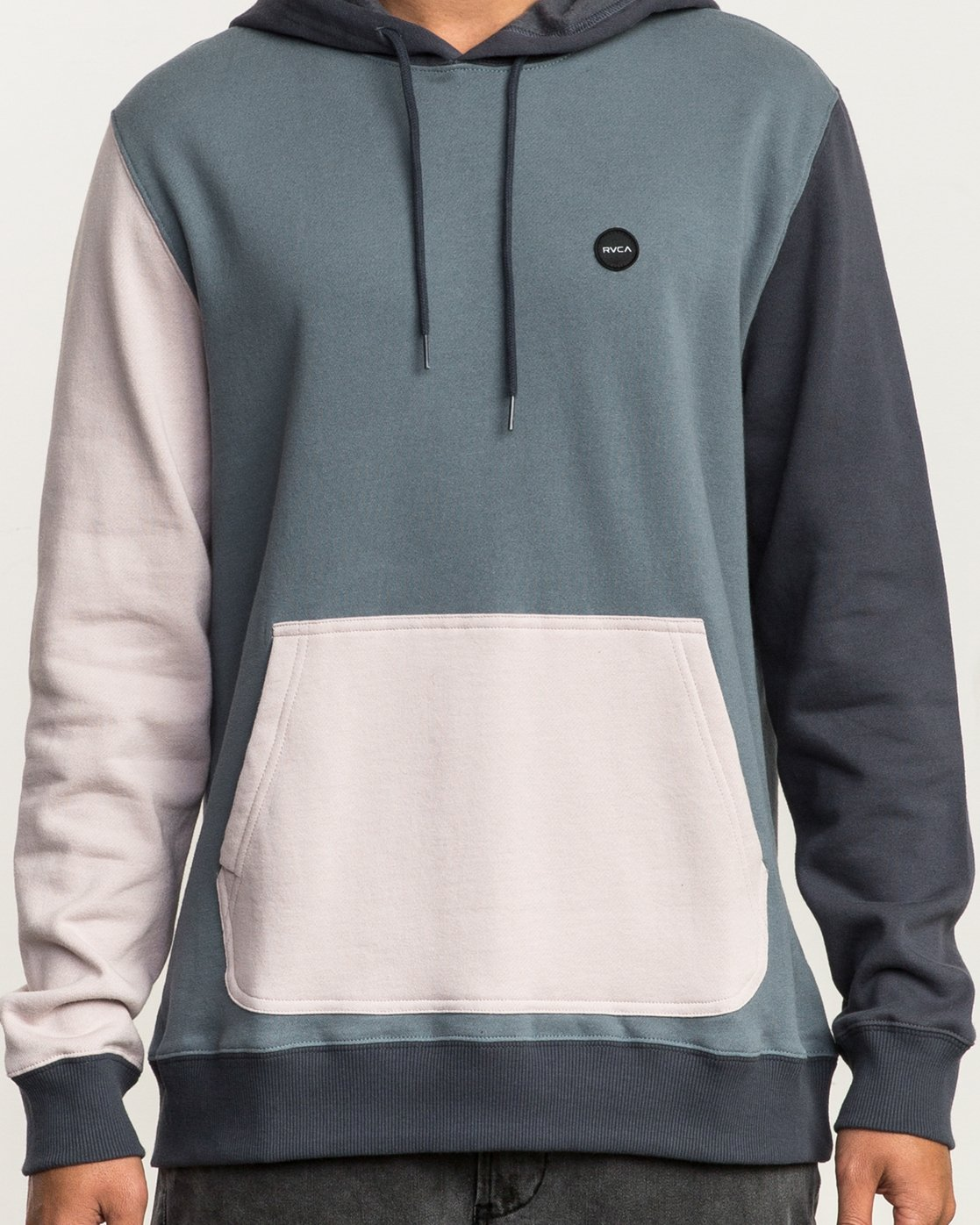 5 Ruddy Color Blocked Hoodie Blue M605QRRD RVCA