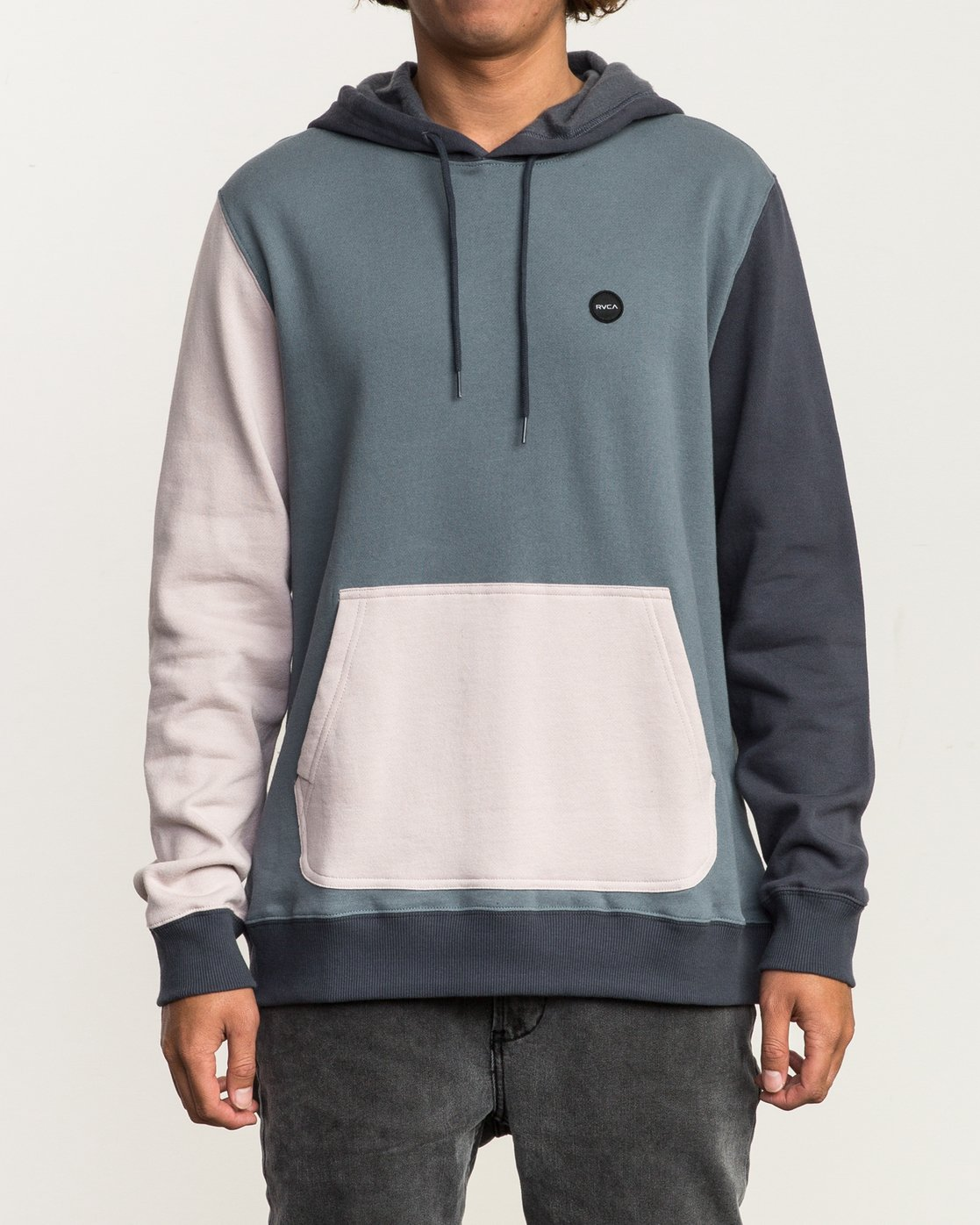 1 Ruddy Color Blocked Hoodie Blue M605QRRD RVCA