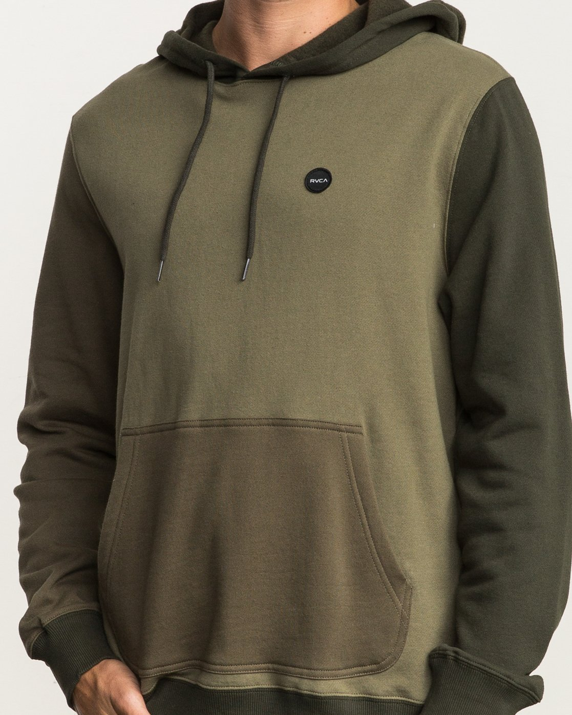 4 Ruddy Color Blocked Hoodie Green M605QRRD RVCA