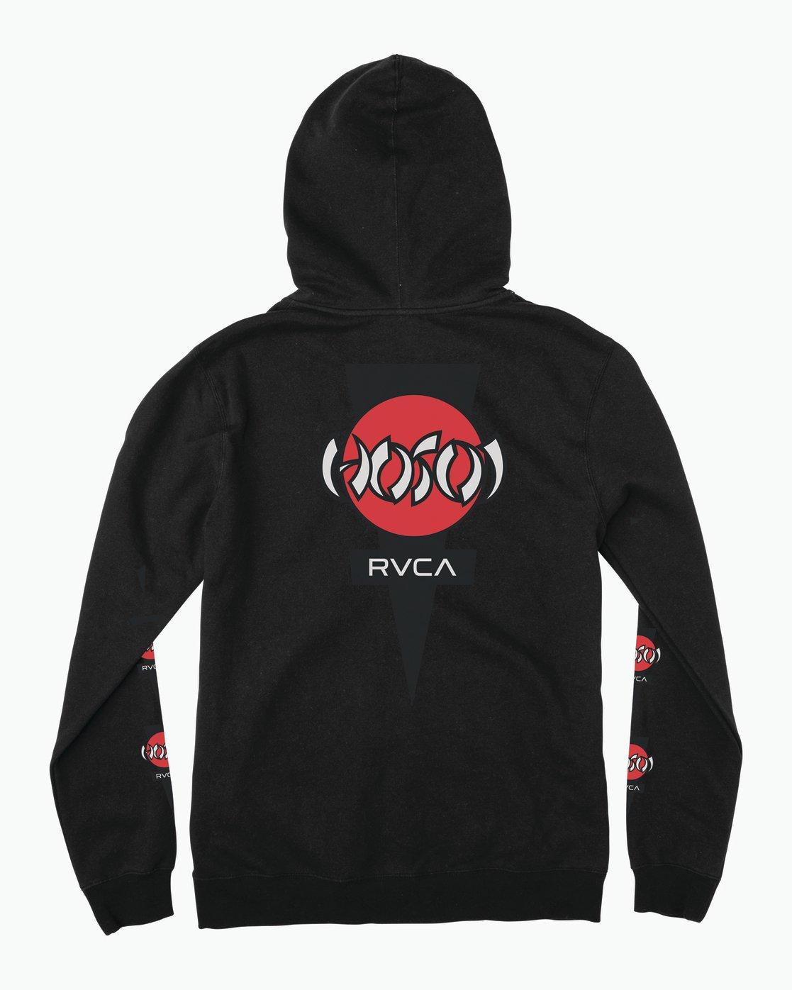 1 Christian Hosoi Zip Hoodie Black M617SRHS RVCA