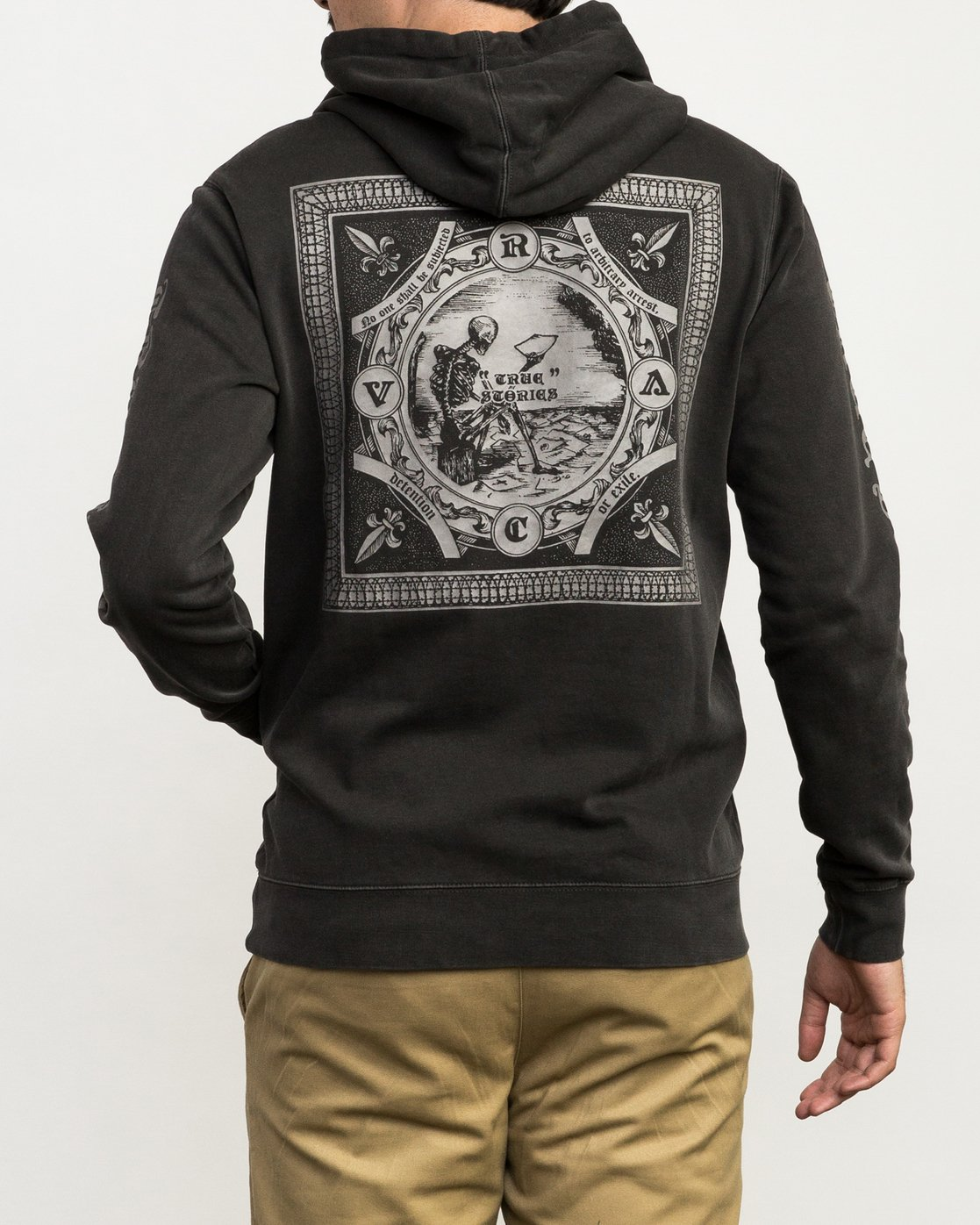 6 Elevation Hoodie Black M621QREL RVCA