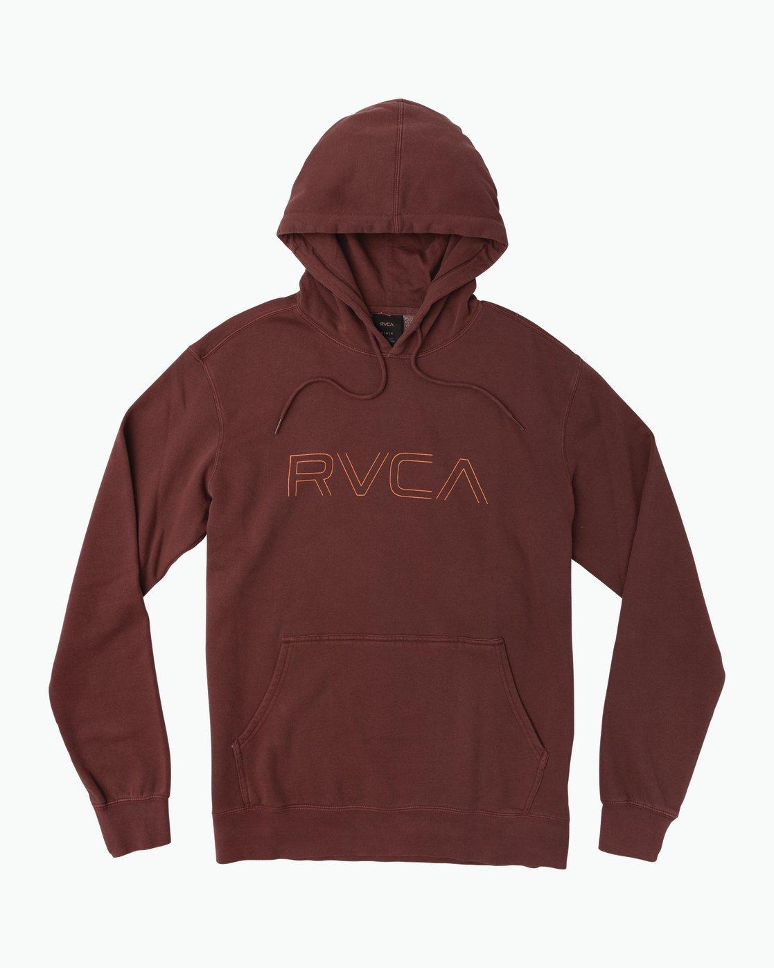 0 Big RVCA Pigment Hoodie Red M621SRBP RVCA