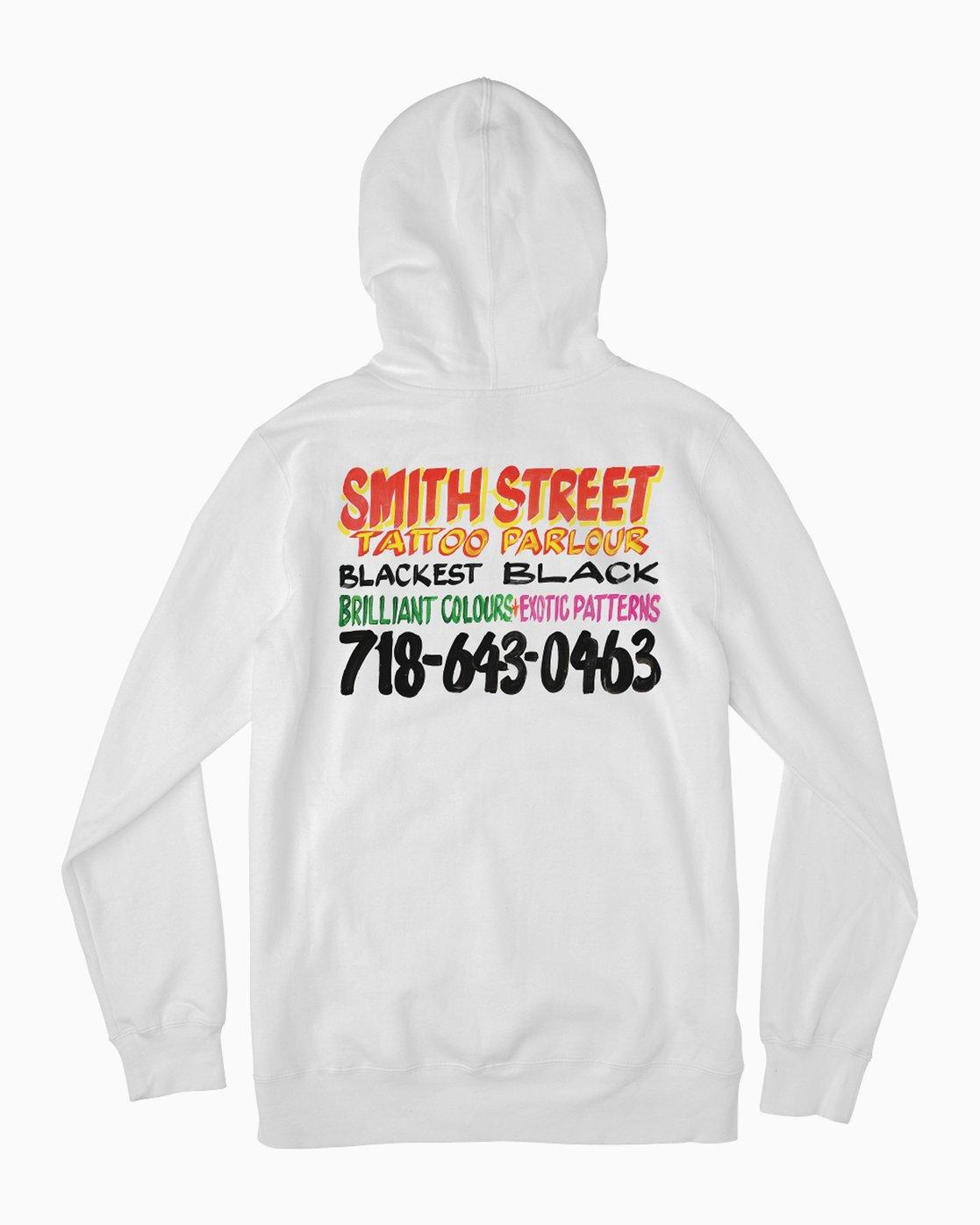 0 Smith Street Nurse Sign 2 Hoodie White M622QRSP RVCA