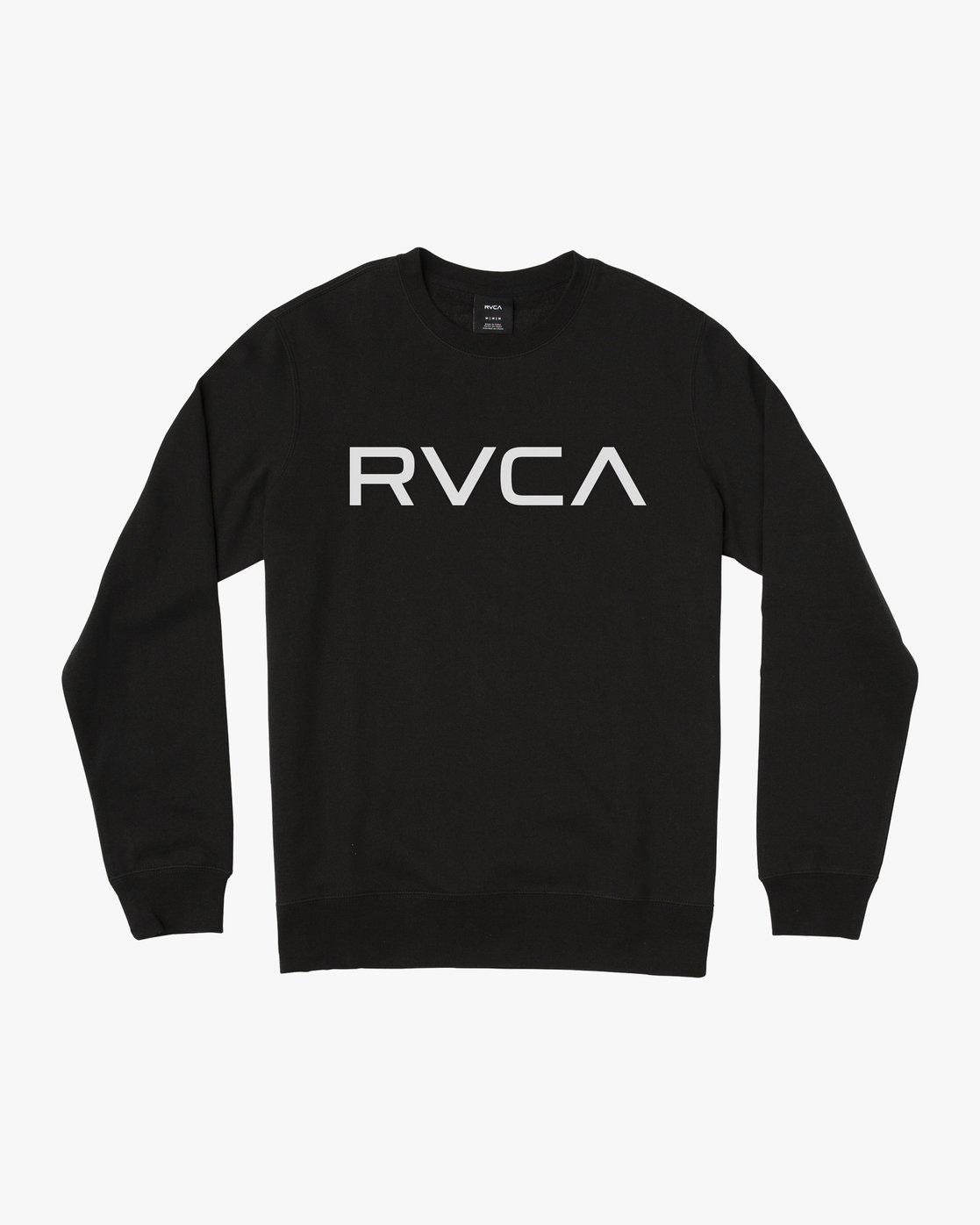 0 BIG RVCA CREW FLEECE Black M622SRBE RVCA