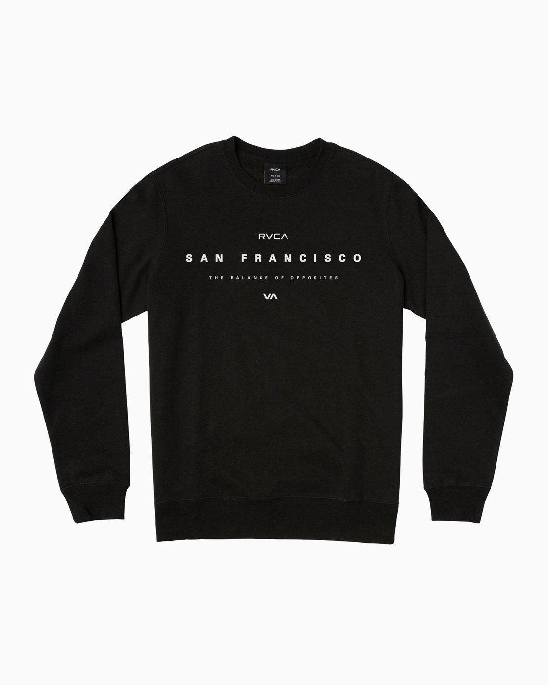 0 San Francisco VA Crew Sweatshirt Black M622SRSV RVCA
