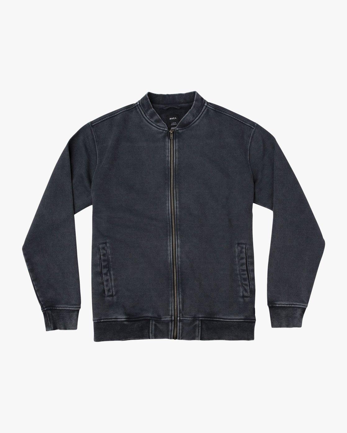 0 Ellsworth Knit Bomber Jacket Black M623TREL RVCA
