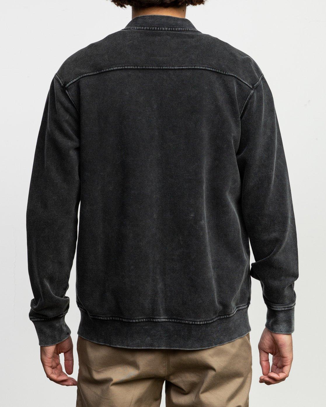 5 Ellsworth Knit Bomber Jacket Black M623TREL RVCA