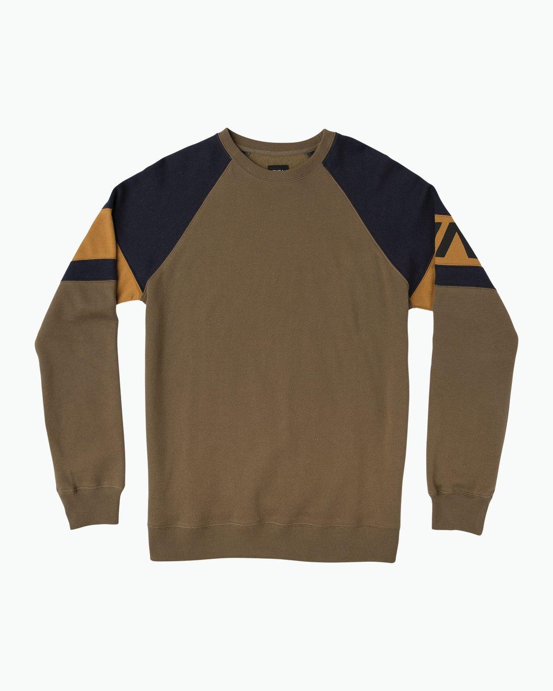0 Benny Colorblocked Sweatshirt Green M640SRBC RVCA