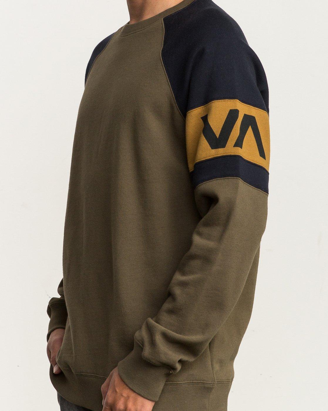 4 Benny Colorblocked Sweatshirt Green M640SRBC RVCA