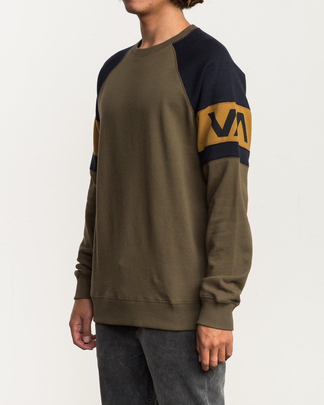 2 Benny Colorblocked Sweatshirt Green M640SRBC RVCA